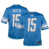 Youth Detroit Golden Tate Nike Honolulu Blue Game Jersey