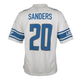 Adult Detroit Barry Sanders Nike White Game Jersey