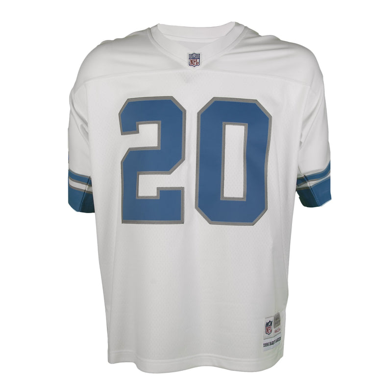 Adult Detroit Barry Sanders Mitchell and Ness White Retired Player Vintage Jersey