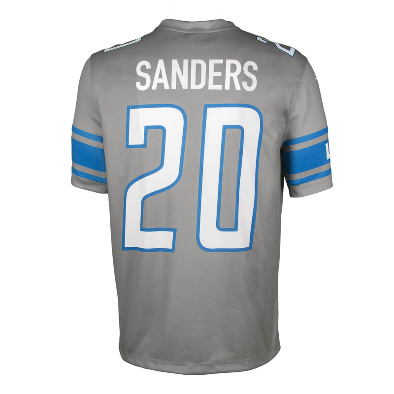 Adult Detroit Barry Sanders Nike Silver Color Rush Legend Jersey