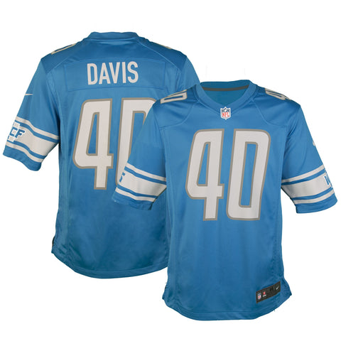 Adult Detroit Jarrad Davis Nike Honolulu Blue Game Jersey