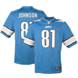 Youth Detroit Calvin Johnson Nike Honolulu Blue Game Jersey