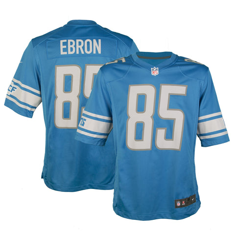 Youth Detroit Eric Ebron Nike Honolulu Blue Game Jersey