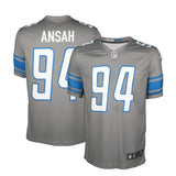 "Adult Detroit Ezekiel ""Ziggy"" Ansah Nike Silver Color Rush Legend Jersey"
