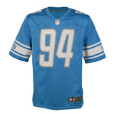 "Adult Detroit Ezekiel ""Ziggy"" Ansah Nike Honolulu Blue Game Jersey"