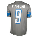 Youth Detroit Matthew Stafford Nike Silver Color Rush Game Jersey