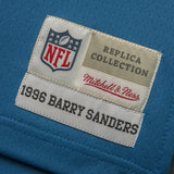 Adult Detroit Barry Sanders Mitchell and Ness Honolulu Blue Retired Player Vintage Jersey