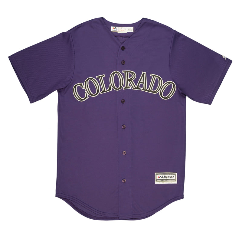 Adult Colorado Charlie Blackmon Purple Cool Base Jersey
