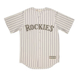 Adult Colorado Charlie Blackmon White Cool Base Jersey