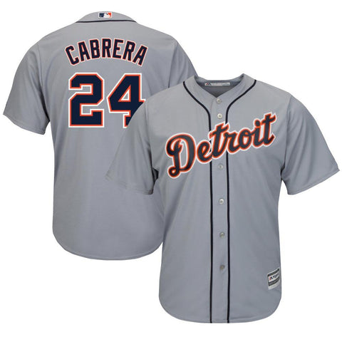 Adult Detroit Miguel Cabrera Grey Cool Base Jersey
