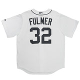 Adult Detroit Michael Fulmer White Cool Base Jersey
