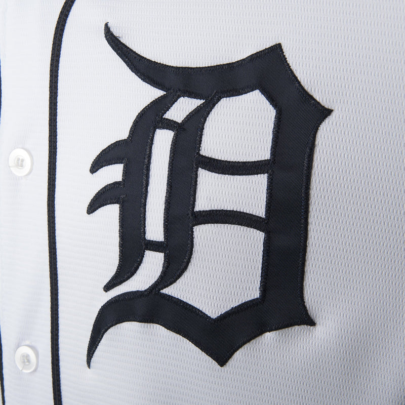 Adult Detroit Alan Trammell White Cool Base Jersey - HOF Patch