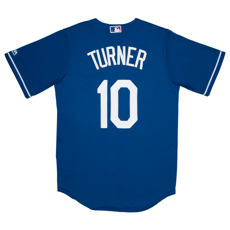 Adult Los Angeles Justin Turner Majestic Blue Cool Base Jersey