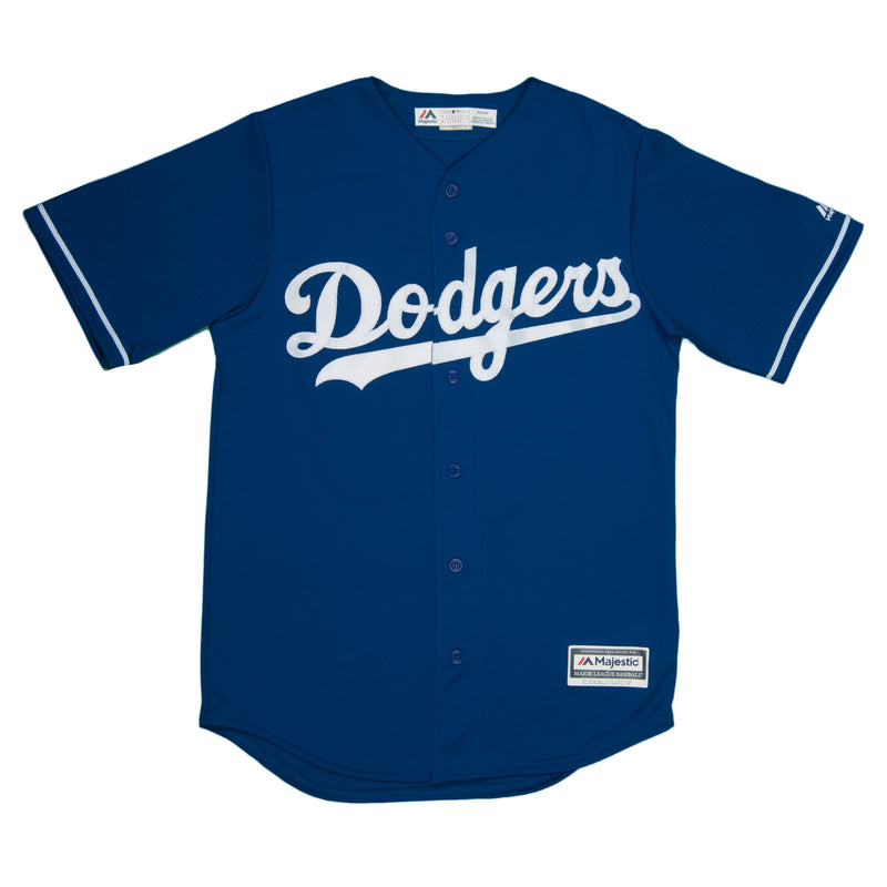 Adult Los Angeles Clayton Kershaw Majestic Blue Cool Base Jersey