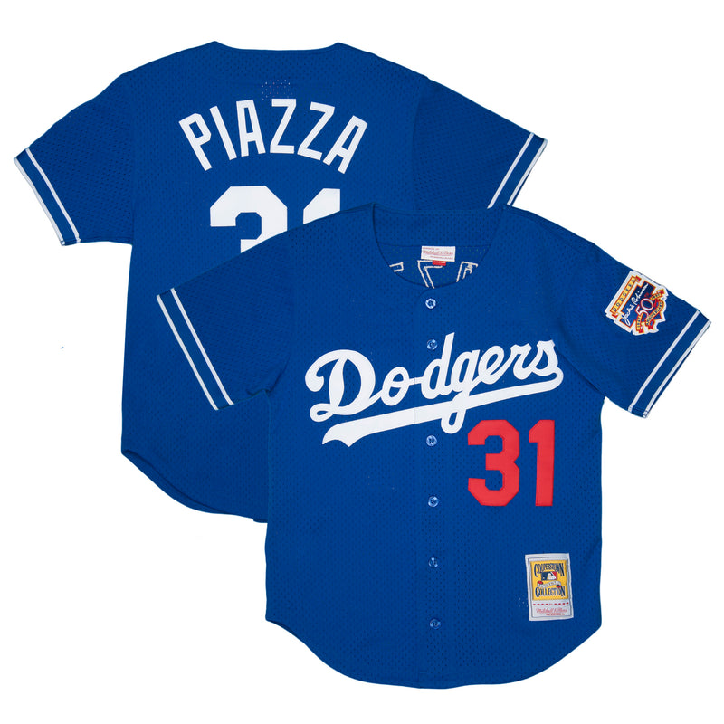 Adult Los Angeles Mike Piazza Blue Mitchell & Ness Vintage Jersey