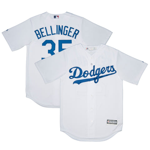 Adult Los Angeles Cody Bellinger Majestic White Cool Base Jersey