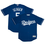 Adult Los Angeles Corey Seager Majestic Blue Cool Base Jersey