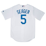 Adult Los Angeles Corey Seager Majestic White Cool Base Jersey