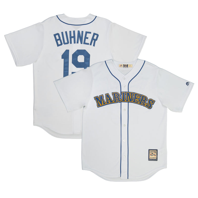 Adult Seattle Jay Buhner Majestic White Cool Base Retired Player Vintage Jersey