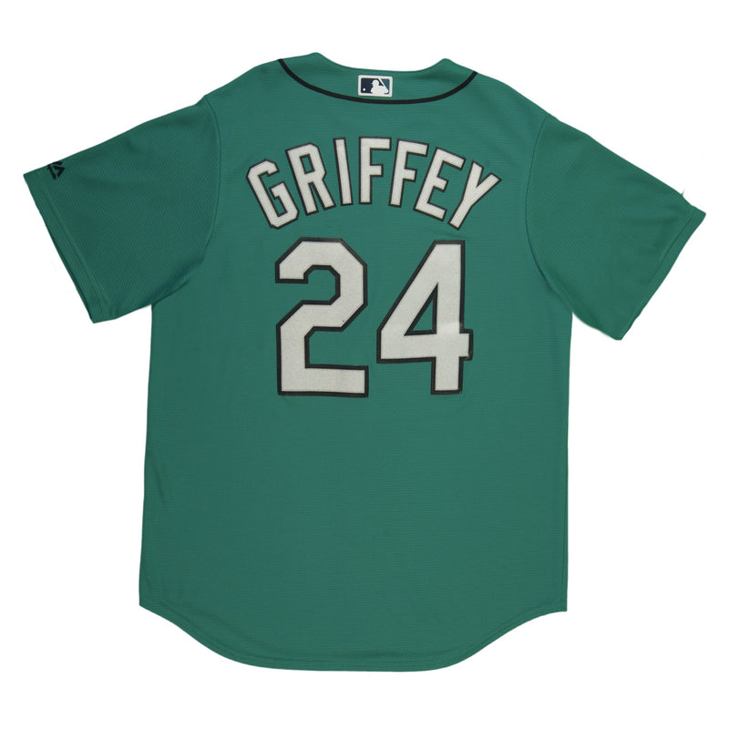 Youth Seattle Ken Griffey Jr Majestic Northwest Green Cool Base Jersey