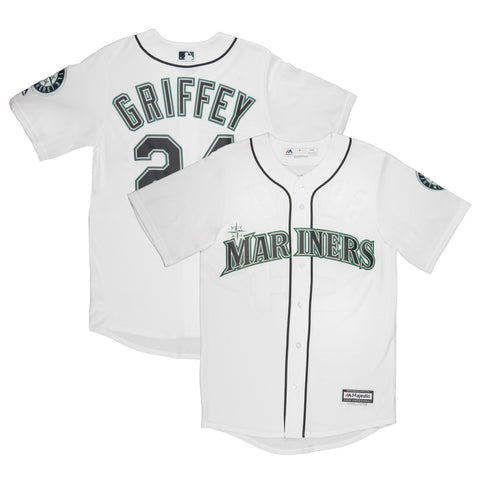 Youth Seattle Ken Griffey Jr Majestic White Cool Base Jersey