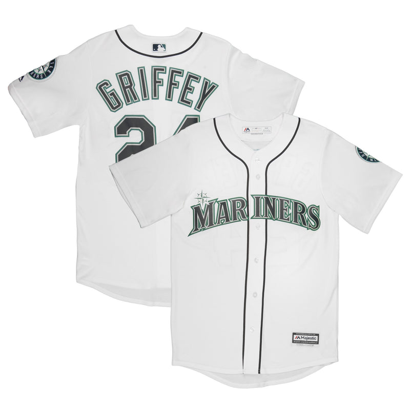 Adult Seattle Ken Griffey Jr Majestic White Cool Base Jersey