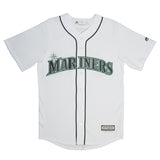 Adult Seattle Jean Segura Majestic White Cool Base Jersey