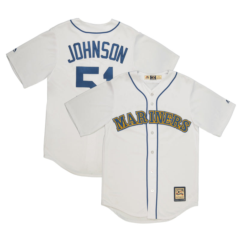 Adult Seattle Randy Johnson Majestic White Cool Base Retired Player Vintage Jersey