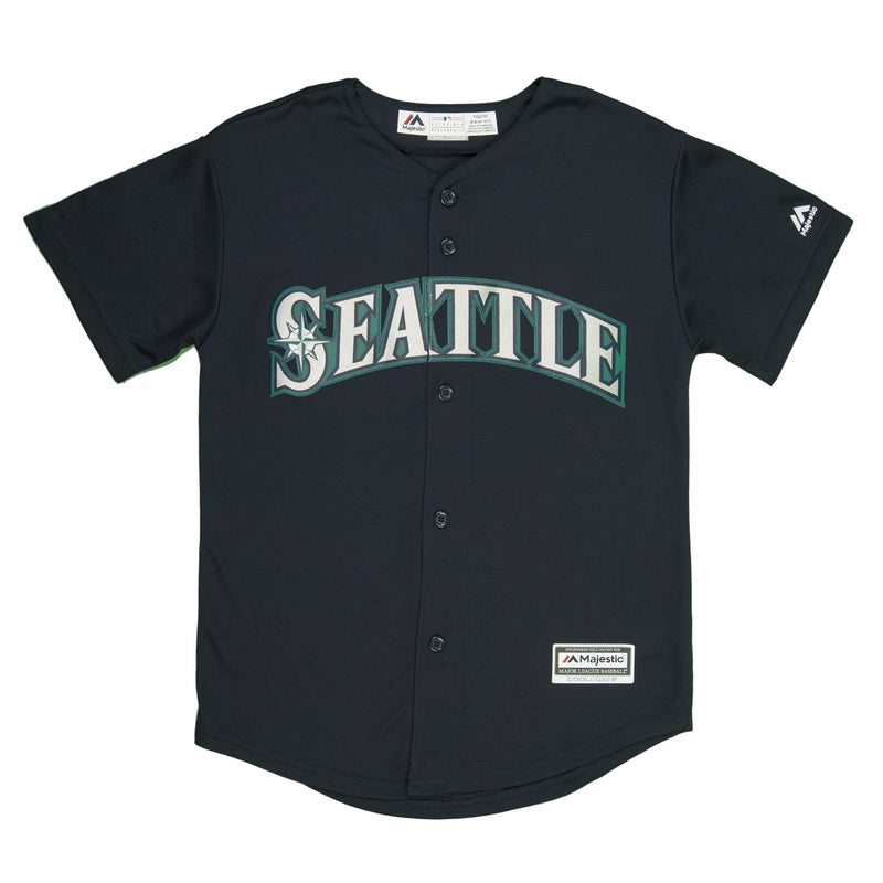 Youth Seattle Robinson Cano Majestic Navy Cool Base Jersey
