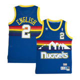 Adult Denver Alex English Adidas Blue Hardwood Classics Jersey