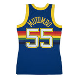 Adult Denver Dikembe Mutombo Mitchell and Ness Blue Hardwood Classics Jersey