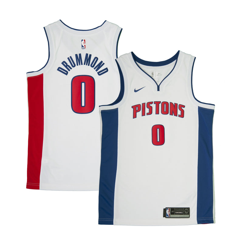 Adult Detroit Andre Drummond Nike White Swingman Association Jersey