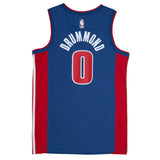 Youth Detroit Andre Drummond Nike Blue Swingman Icon Jersey