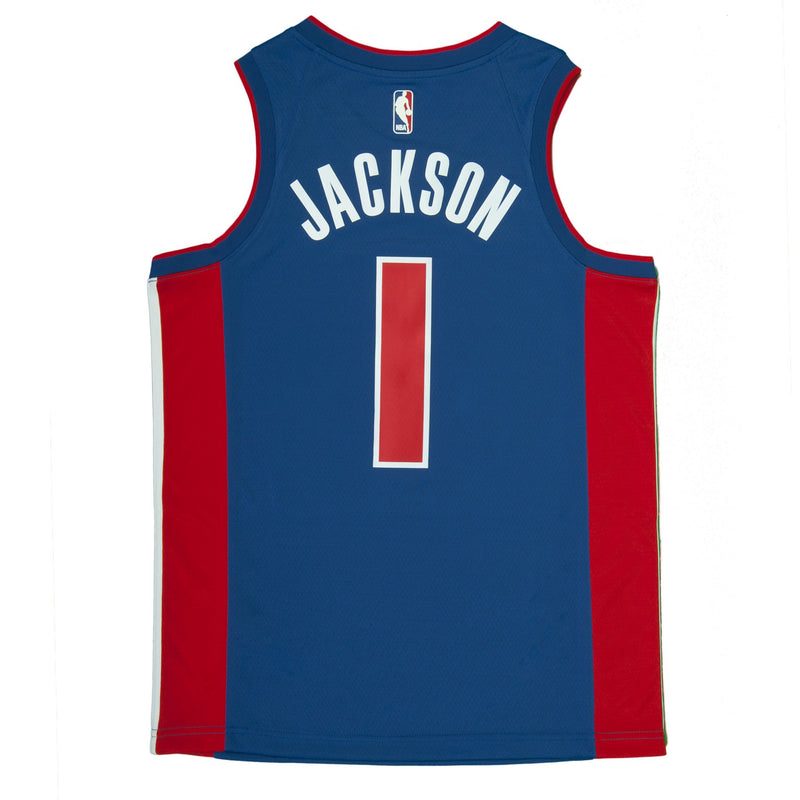 Adult Detroit Reggie Jackson Nike Blue Swingman Icon Jersey