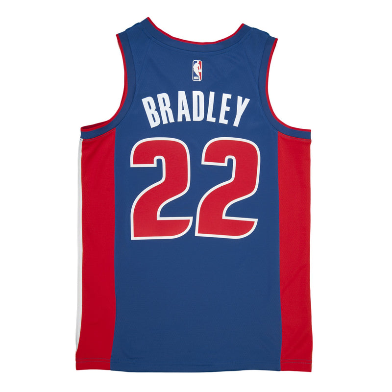Adult Detroit Avery Bradley Nike Blue Swingman Icon Jersey - Sponsor Patch