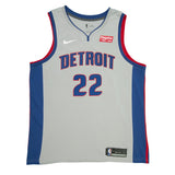 Adult Detroit Avery Bradley Nike Grey Swingman Statement Jersey - Sponsor Patch
