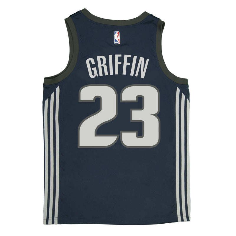 Adult Detroit Blake Griffin Nike Navy Swingman City Edition Jersey - Sponsor Patch