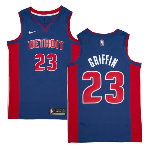 Adult Detroit Blake Griffin Nike Blue Swingman Icon Jersey