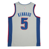 Adult Detroit Luke Kennard Nike Grey Swingman Statement Jersey - Sponsor Patch