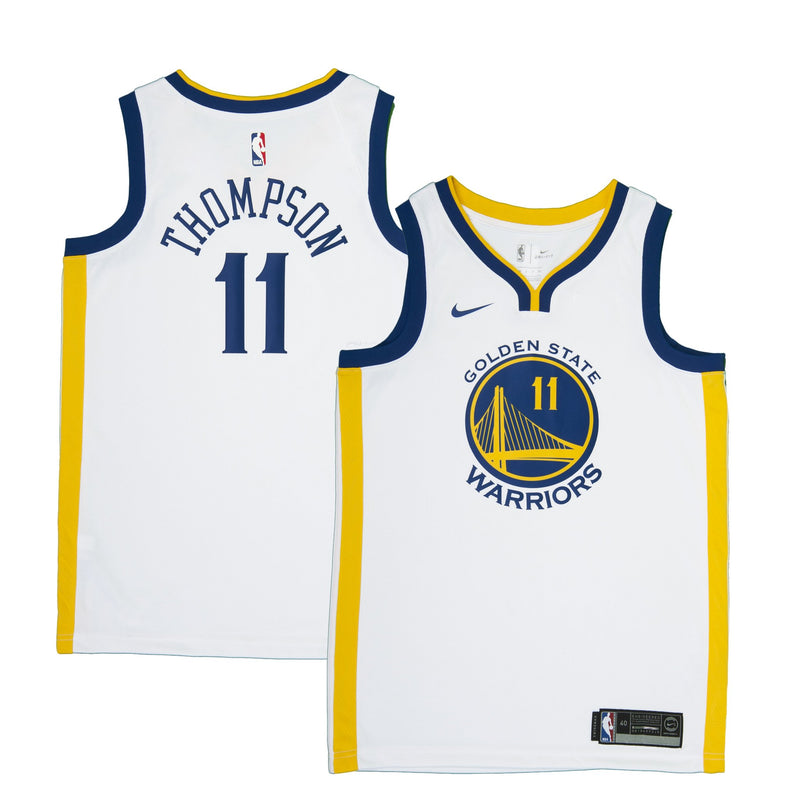 Youth Golden State Klay Thompson Nike White Swingman Association Jersey
