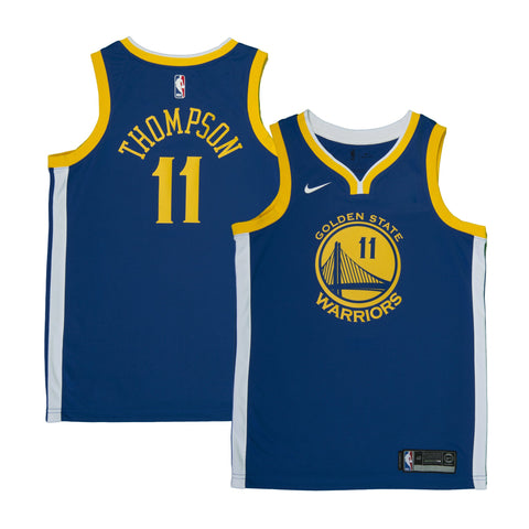 Adult Golden State Klay Thompson Nike Blue Swingman Icon Jersey