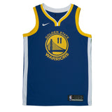 Youth Golden State Klay Thompson Nike Blue Swingman Icon Jersey