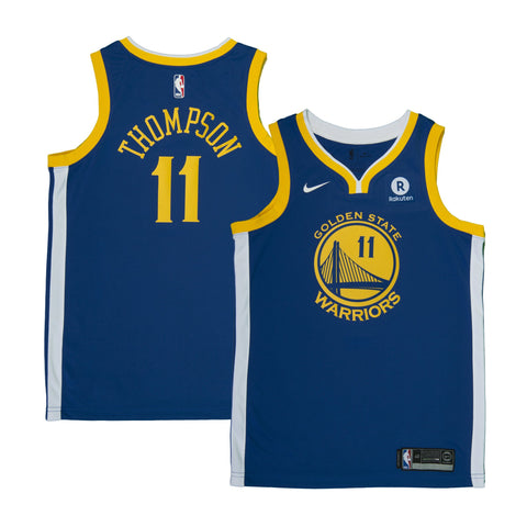 Youth Golden State Klay Thompson Nike Blue Swingman Icon Jersey - Sponsor Patch