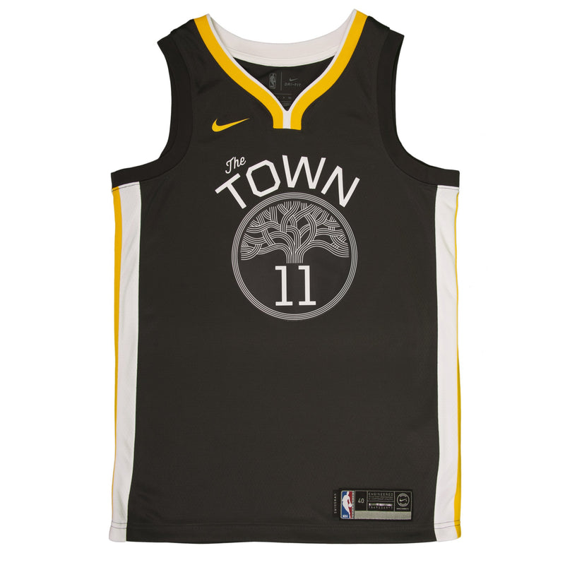 Adult Golden State Klay Thompson Nike Black Swingman Statement Jersey