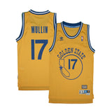 Adult Golden State Chris Mullin Adidas Yellow Hardwood Classics Jersey
