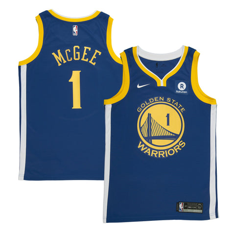 Adult Golden State JaVale McGee Nike Blue Swingman Icon Jersey - Sponsor Patch