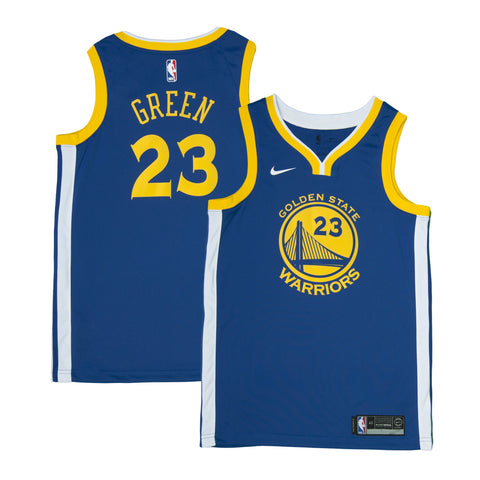 Adult Golden State Draymond Green Nike Blue Swingman Icon Jersey