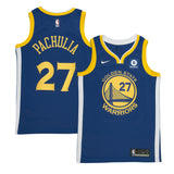 Adult Golden State Zaza Pachulia Nike Blue Swingman Icon Jersey - Sponsor Patch