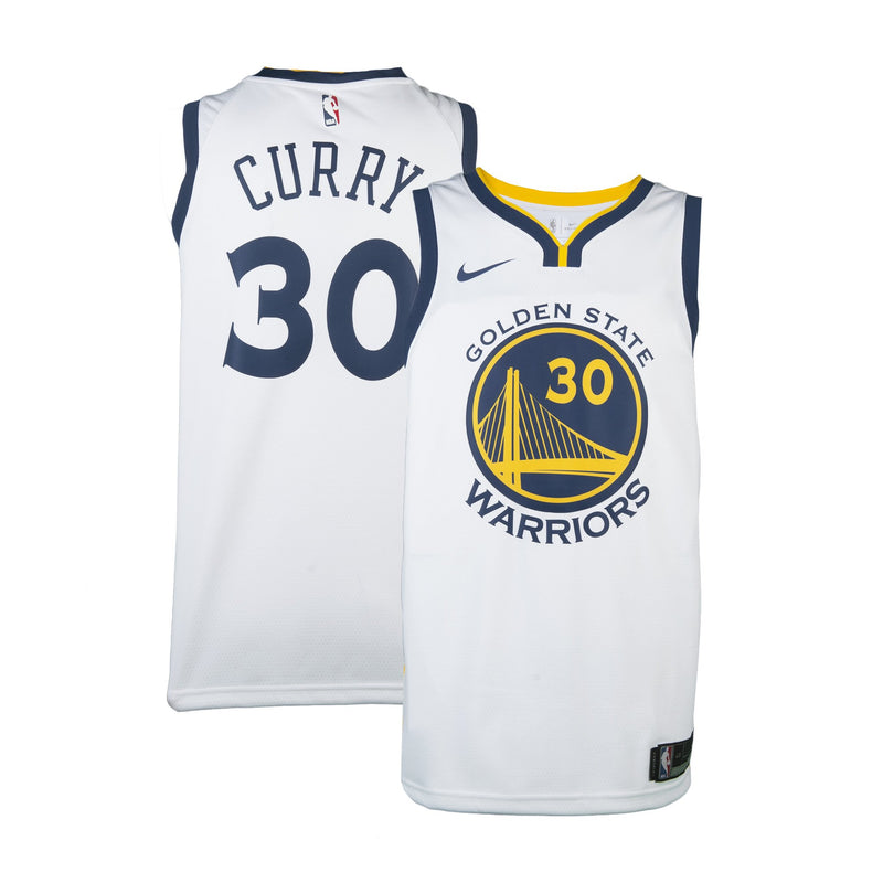 Youth Golden State Stephen Curry Nike White Swingman Association Jersey