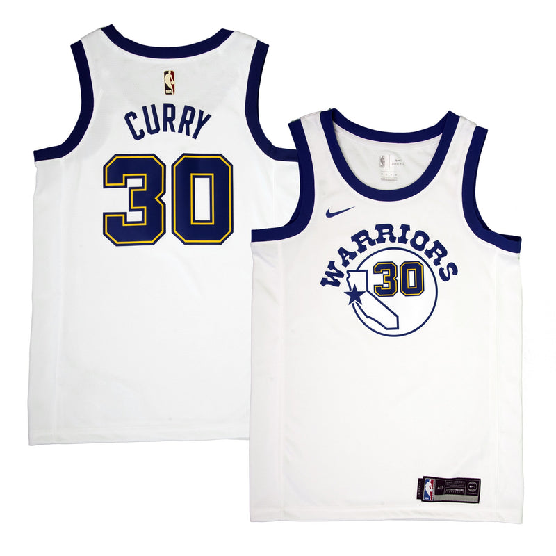 Adult Golden State Stephen Curry Nike White Swingman Fashion Jersey